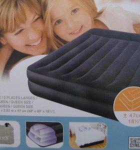 Надувной матрас с насосом