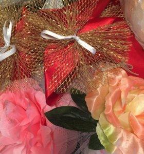 Свадебные Ленты и цветы для авто