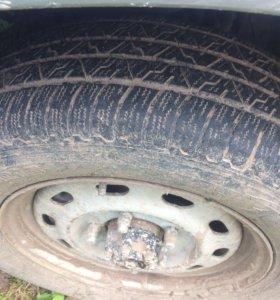 Шины с дисками от соболя! 5 колёс