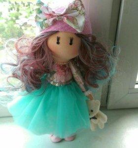 Интерьерная текстильная кукла ручной работы.