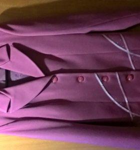 Костюм 44 р. на 170 см, 4-ка (пиджак+брюки+юбка+топик)