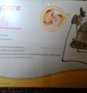 Детские электрокачели 2в1 BabyCare Butterfly