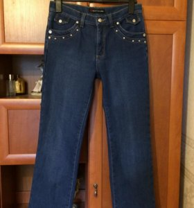 Тёплые, синие джинсы BicStar, 46 размер
