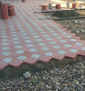 Тротуарная плитка,бордюры,фасадная плитка