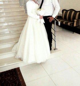 Свадебное платье и болеро