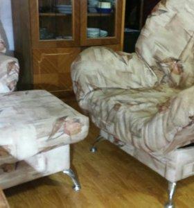 """Диван,1 кресло,1пуф,""""финка-люкс"""""""