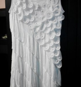 Белоснежное платье 46-48