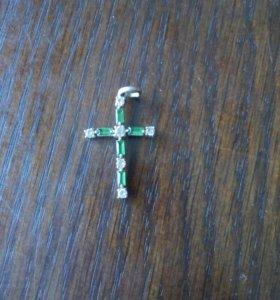Декоративный крестик (бижутерия)