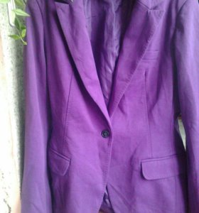 Пиджак новый фиолетовый, очень красивый, р.46-48