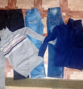 Брюки,джинсы на флисе и кофты на мальчика 8-9 лет
