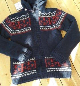 Теплый свитер куртка