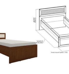 Односпальная кровать и матрас
