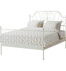 Металическая двухспальная кровать
