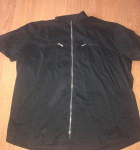 Стильная рубашка на молнии большого размера