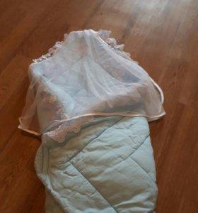 Одеялко на липучках для роддома или прогулок