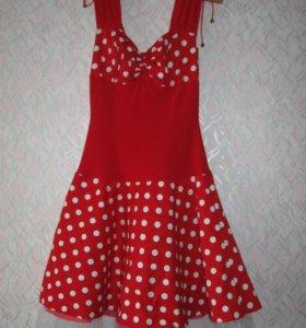 Коктейльное платье с подкладом