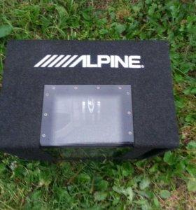 Сабвуфер Alpine 800w и усилитель
