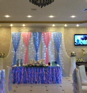 Оформление свадеб,юбилеев, детский праздник