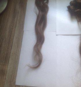 Волосы накладные натуральные
