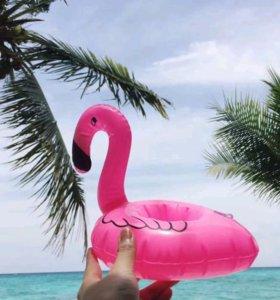 Надувной фламинго,арбуз, уточка,пальма