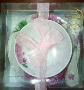Подарочный фарфоровый чайный набор