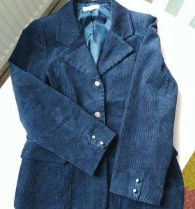 Пиджак синий велюровый 146