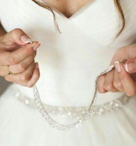 Свадебное платье нежное айвори