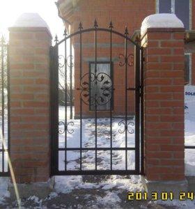 Ворота, калитка, забор.