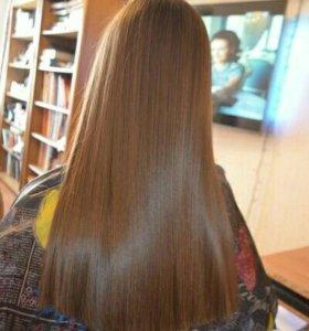 Кератиновое выпрямление (лечение) и ботокс волос