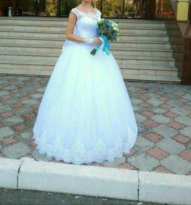Свадебное платье+ украшения и обувь