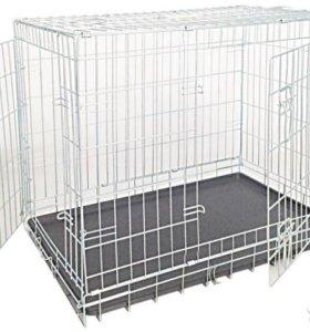 Клетка для собак стальная 95x65x70см б/у