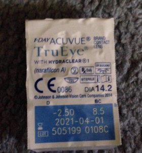 Контактные линзы 1-DAY ACUVUE TRYEYE