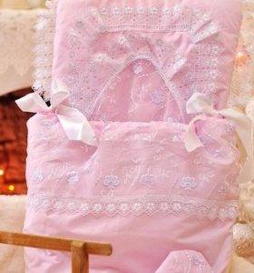 комплект на выписку для новорождённой девочки