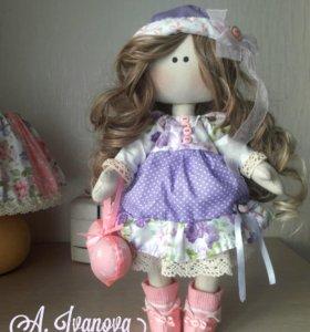Кукла текстильная ручной работы.