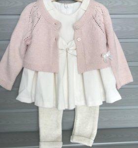 Костюм (3) платье кофточка штанишки