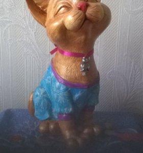 Кошка-копилка-ручная роспись