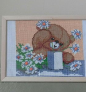 Мишка цветы