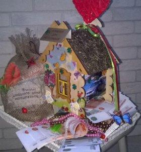 Декор. домик молодоженов для денег