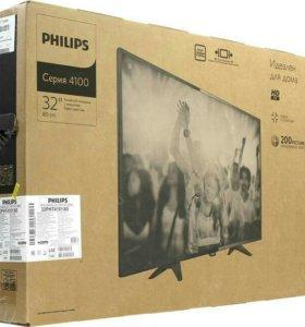 Новый LED TV philips 32pht4101/60 (81см)