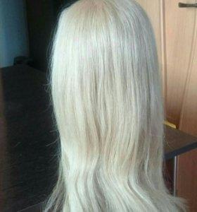 Манекен, учебная голова, натуральные волосы