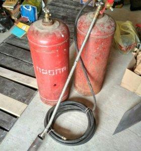 Газовые баллоны с редуктором и горелкой