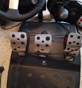 Приставка Sony PlayStation 3,руль,педали