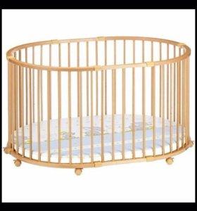 Манеж-кровать Geuther Baby-parc + бампер