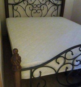 Кровать с матрасом б/у 160/200