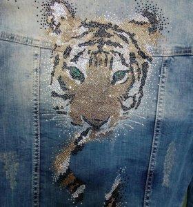 Комплект джинсовый APLAUSS, со стразами , Турция