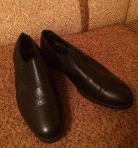 Мужские новые туфли из натуральной кожи
