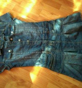 Платье джинсовая