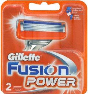 Сменные кассеты для бритья Gillette Fusion Power,