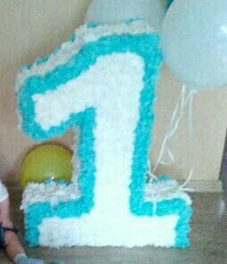 Единичка+свеча в торт