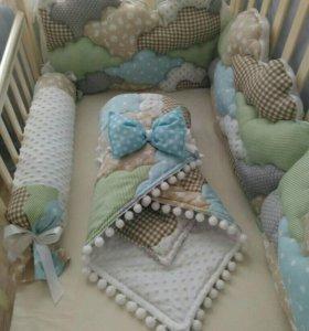 Бортики одеялко постельное
